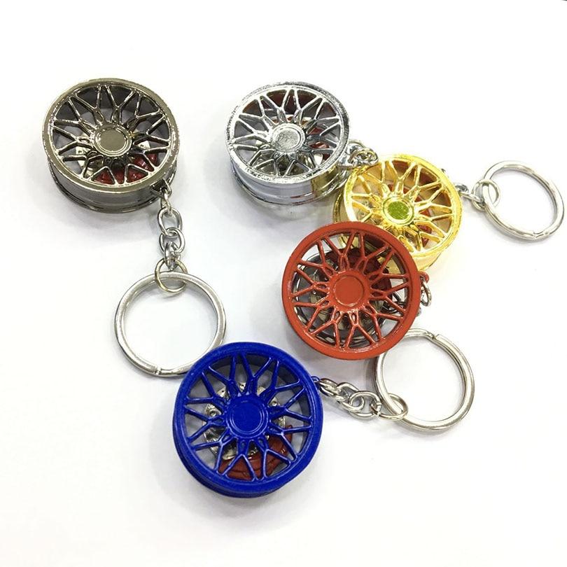Alta qualidade de metal anel chave do carro bbs roda hub aro disco freio estilo para bmw mercedes benz ford toyota nissan honda audi chaveiro