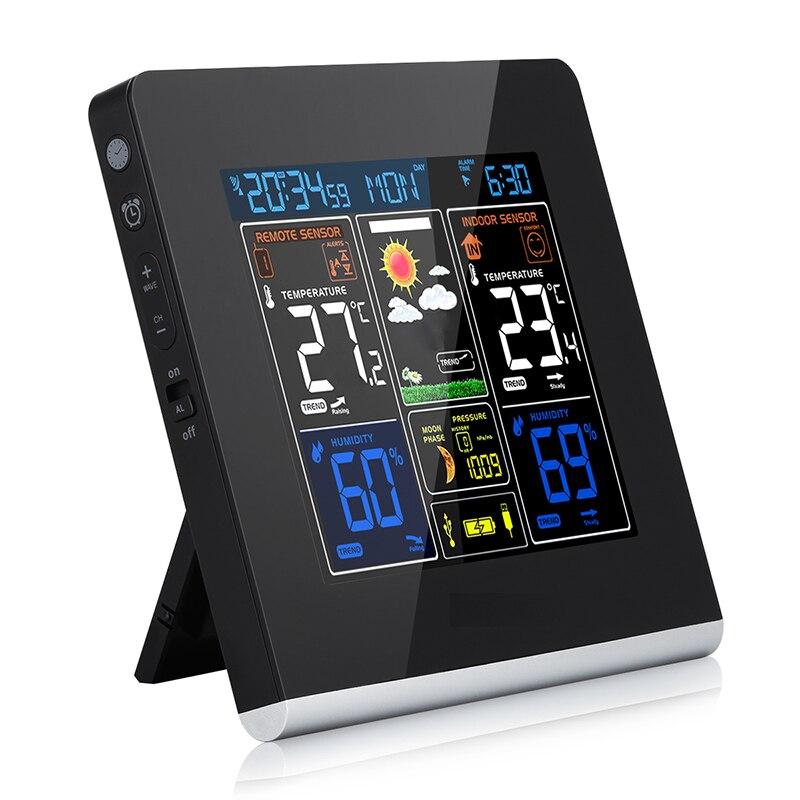 Station météo sans fil avec capteur extérieur intérieur alarme numérique DCF horloges prévision Station météo