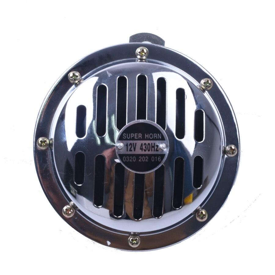 Bocina de aire eléctrica de 125mm, bocina de Color Aluminio cromada fuerte de 12V, coches, camiones, motocicletas para Kawasaki Z750 para ford F-150