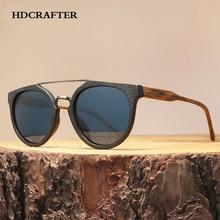 HDCRAFTER Vintage Houten Zonnebril Voor Mannen/Vrouwen, hoge Kwaliteit Gepolariseerde Lens UV400 Klassieke zonnebril Gafas Oculos De Sol Madera