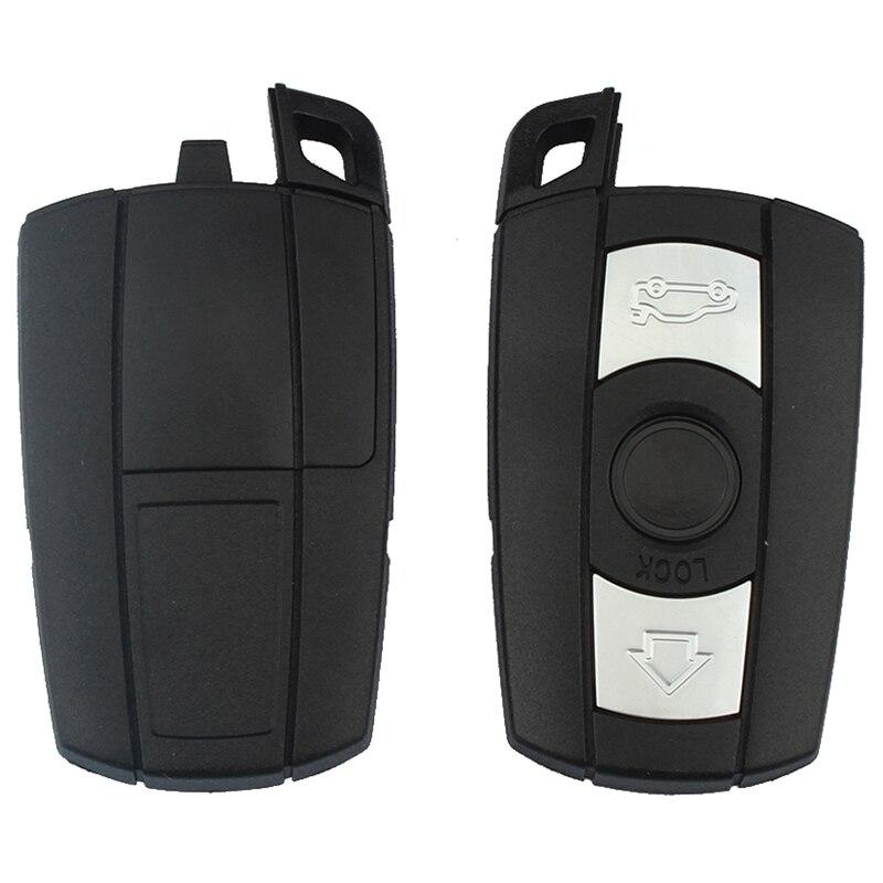 Mayitr 3 botões caso chave remota escudo chave em branco para bmw 1 3 5 6 7 série e90 e91 e93 substituição caso do escudo da chave remota