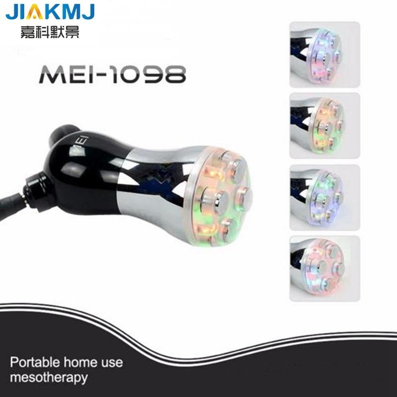 2017new multi color Electro estimulación aguja de mesoterapia Dispositivo de electroporación masajes Facial RF Radiofrecuencia piel Lift