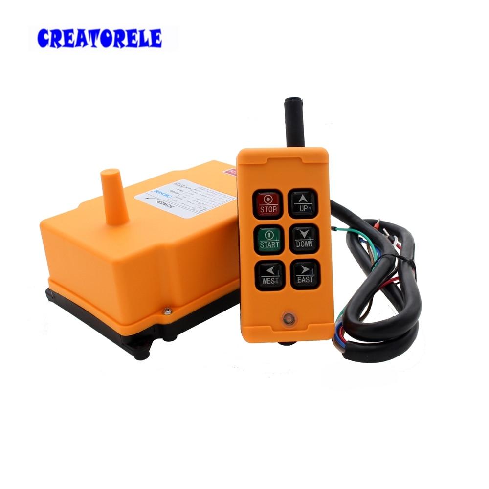 Новое поступление кран промышленный пульт дистанционного управления HS-6 беспроводной передатчик кнопочный переключатель Китай