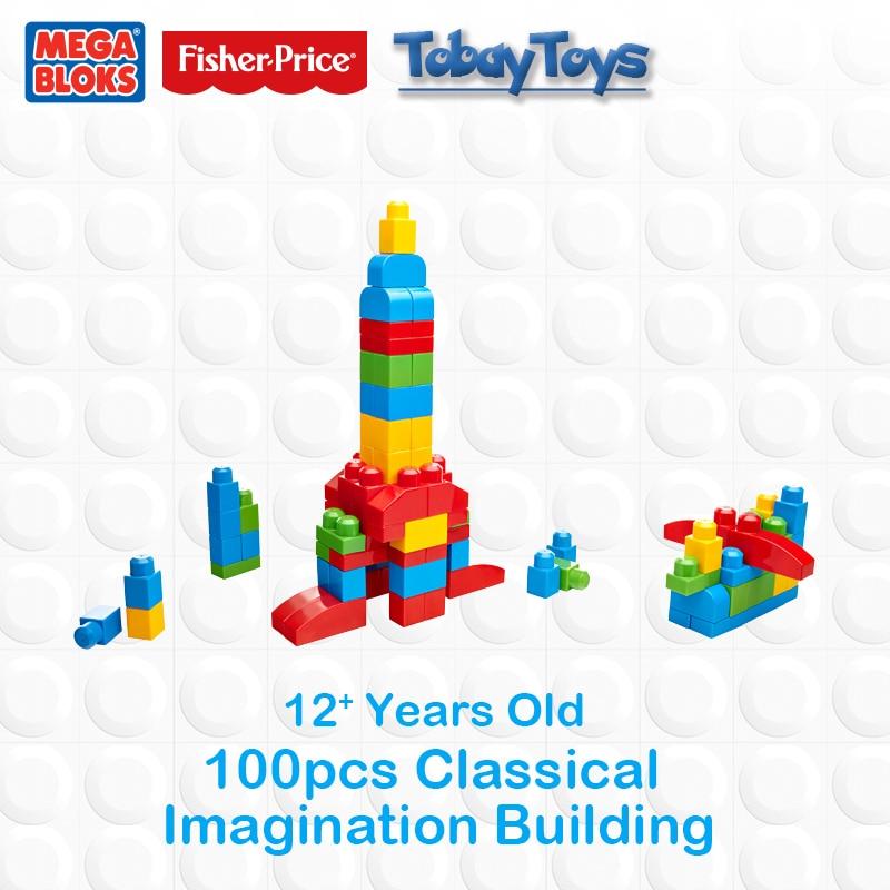 Genuine Brand Mega Bloks Brick Toy First Builders Series Imagination Building DIY Toy FFY 49 Place a I Imagination CXP09