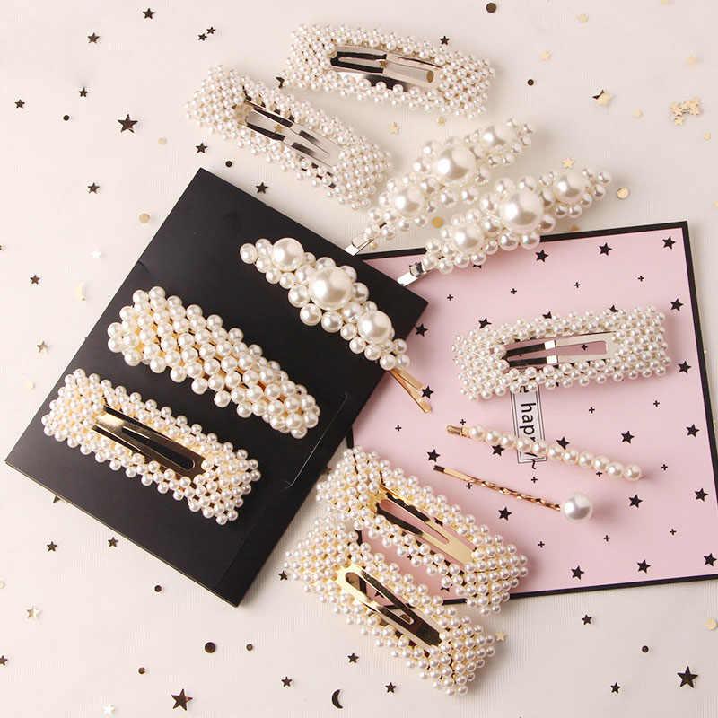 2020 New Fashion Pearl Hair Clip For Women Elegant Korean Design Snap Barrette Stick Hairpin Hair Styling Accessories Dropship Women S Hair Accessories Aliexpress
