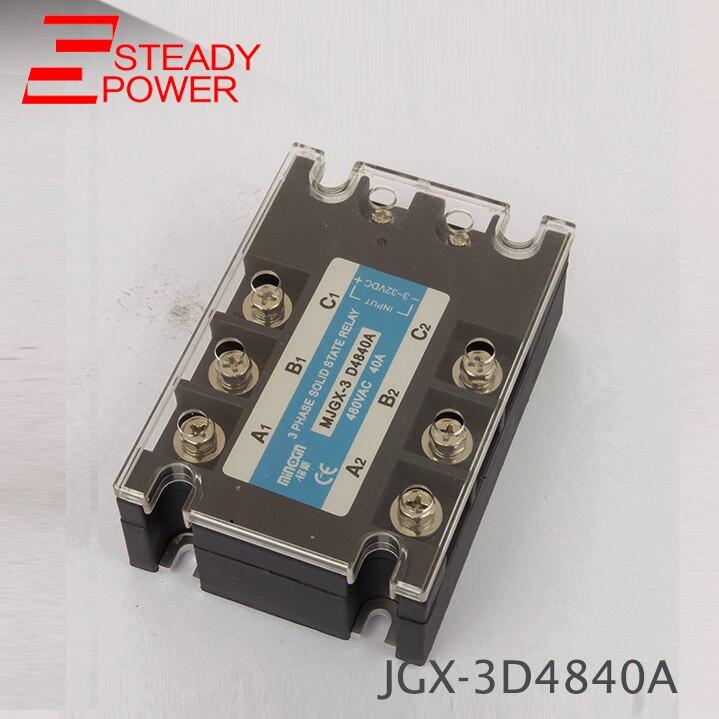 Tres fase relé de estado sólido DC AC Control 40A 50A en realidad 3-32VDC a 24-380VAC 40DA 40AA 50DA 50AA relé sólido estado