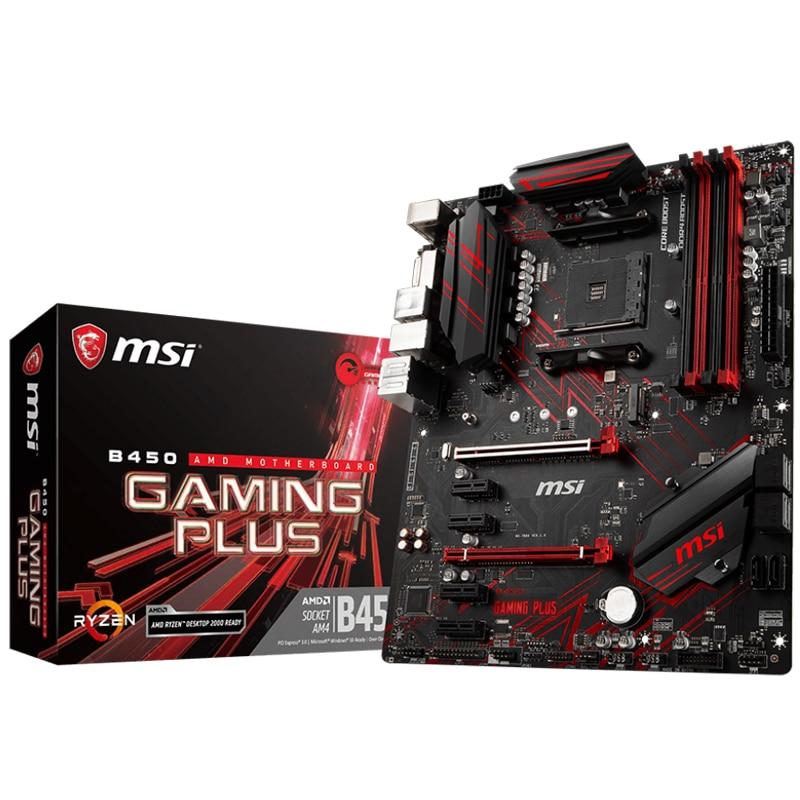 Новинка MSI B450 игровая плюс оригинальная материнская плата розетка AM4 DDR4 USB2.0 USB3.1 DVI HDMI 64GB B450 настольная материнская плата