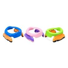 Para los niños con 10 bolsas de aseo 2 in1 portátil bebé Cámara ollas plegable baño formación para viaje de Asiento de baño anillos