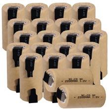 20 pièces SUBC batteries 2200mah 1.2v sc nicd batterie de remplacement pour bosch outil électrique pour dewalt pour makita pour metabo pour makita