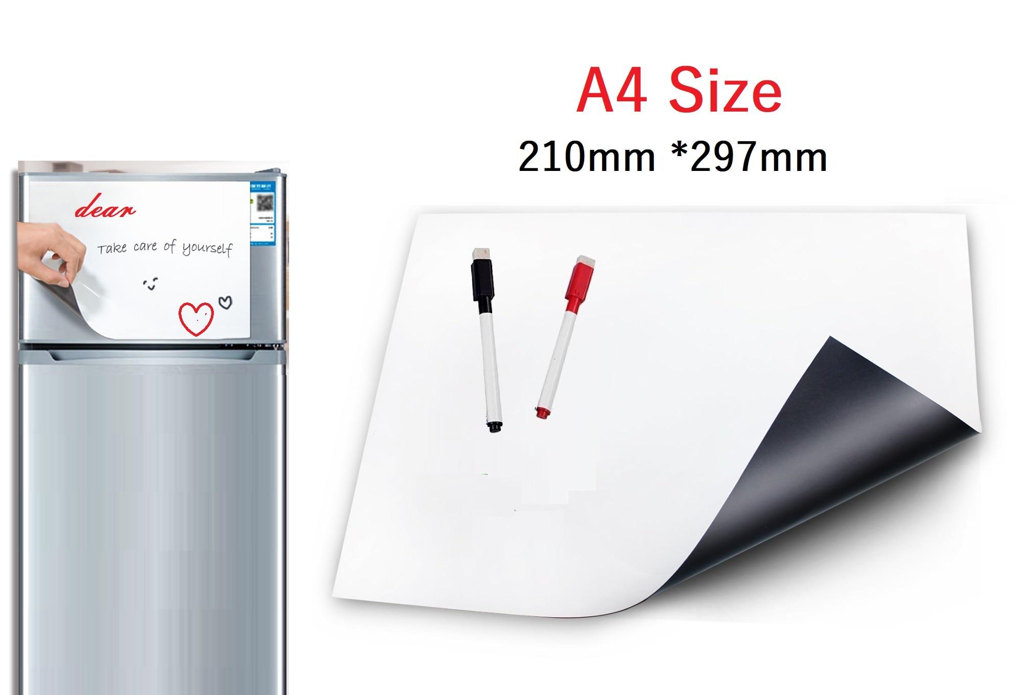 Магнитная доска WonYean A4 для холодильника, магнитная доска для записей на кухне, 2 маркера