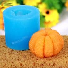 Silicone moules fruits moule savon moule Orange Silicone savon moules moule bougie Gel de silice Oranges arôme pierre 3D PRZY 001