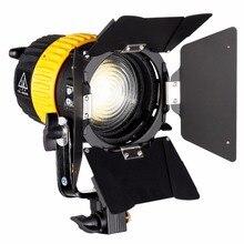 80W LED Video Spotlight for Studio Photography Camera Continuous Lighting Bi-color 3200K/5600K Dimmer V mount MINI Soft light