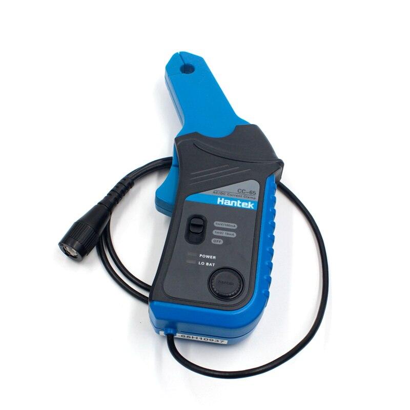 Multímetro Hantek CC-65 CC65 AC/DC medidor de pinza de corriente transductor con conector BNC osciloscopio para reparación de automóviles 20mA ~ 65A