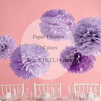 Fontes do casamento 10 polegada 25 cm Papel Tissue Pom Poms Flores Decorativas Bolas para Nupcial do Partido Do Chuveiro Do Bebê