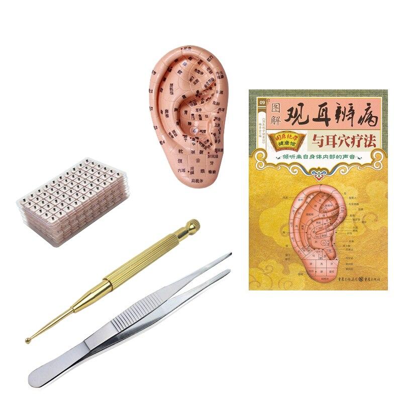 600 Uds terapia magnética de la oreja semillas pegatinas oído aguja de acupuntura parche Cuidado del oído masaje terapia china acupuntura