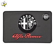Auto voiture intérieur multi-fonction téléphone portable anti-dérapant tapis pour Alfa Romeo 147 155 156 159 Giulietta Giulia Mito GT Brera