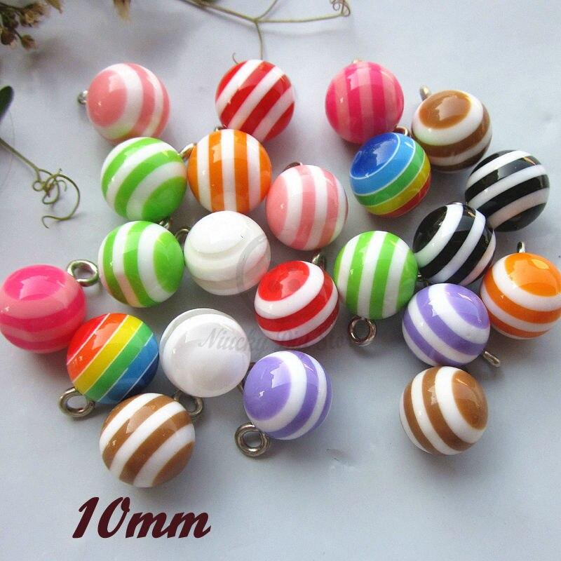 50 Uds. Botón decorativo de camisa de pelota circular de 10mm mezclado/1 color colorido para Resina de costura cooper feet botones a granel para coser