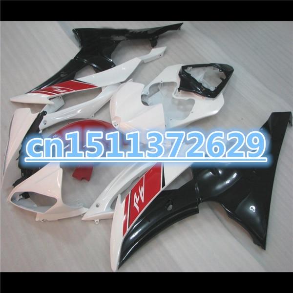 الأبيض الأسود الأحمر YZF R6 2008 2009 2010 2011 YZFR6 08 09 10 11 YZF600 R6 08 09 10 11 fairings عدة