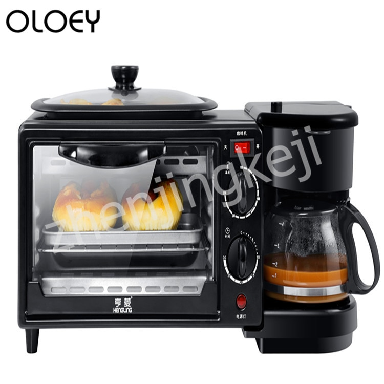 Multi-function Breakfast Machine Home Three-in-one Coffee oven Toaster 220V Three-in-one Breakfast Machine
