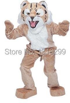 mascot Wildcat Bobcat mascot costume cute wild cat fancy dress custom fancy costume cosplay theme mascotte carnival costume kits