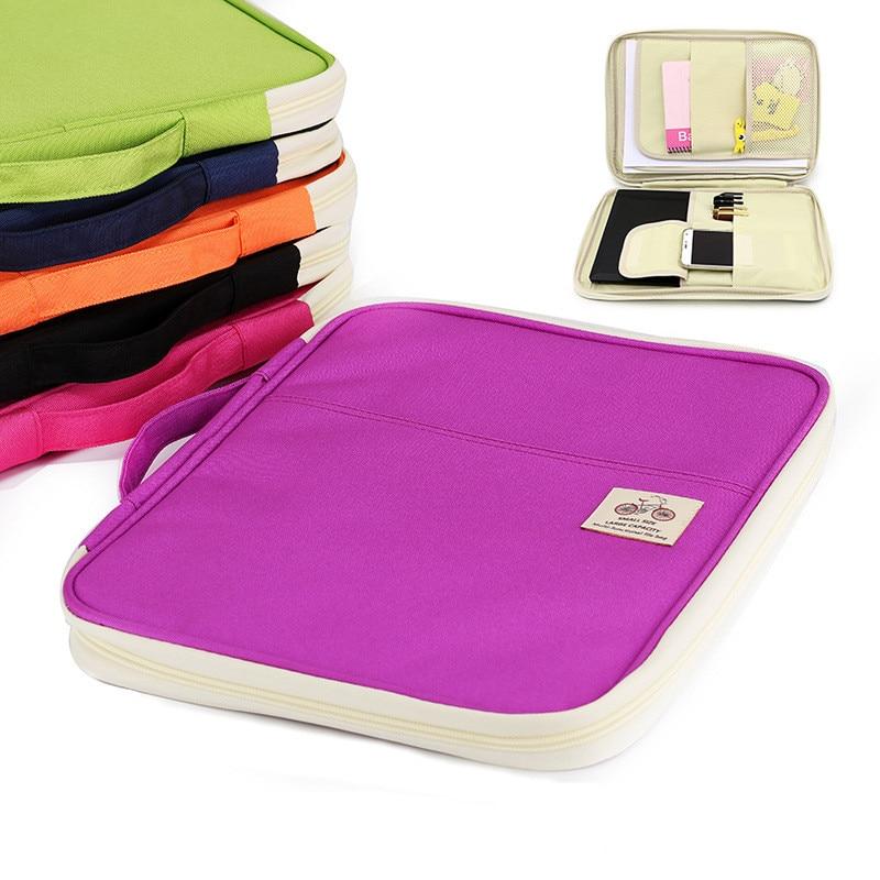 Carpetas A4, bolsas para documentos, producto archivador multifuncional, oxford bolsa de almacenamiento portátil resistente al agua para cuadernos, bolígrafos, ordenador, Ipad