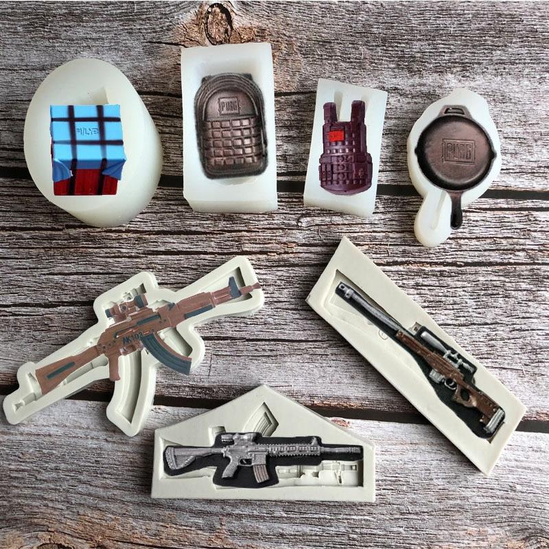Moldes de silicona para tarta Fondant en forma de equipo de juego, moldes de caramelo para Chocolate, moldes de hielo, molde de galletas de pastelería, herramienta de decoración de pasteles