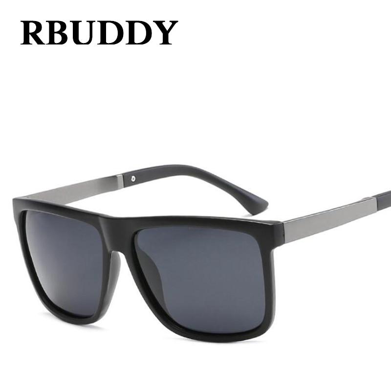 RBUDDY Square Sunglasses Men Polarized Brand Designer Driving Sunglasses Vintage Eyewear Drivers Male Sun glasses for Man 2019