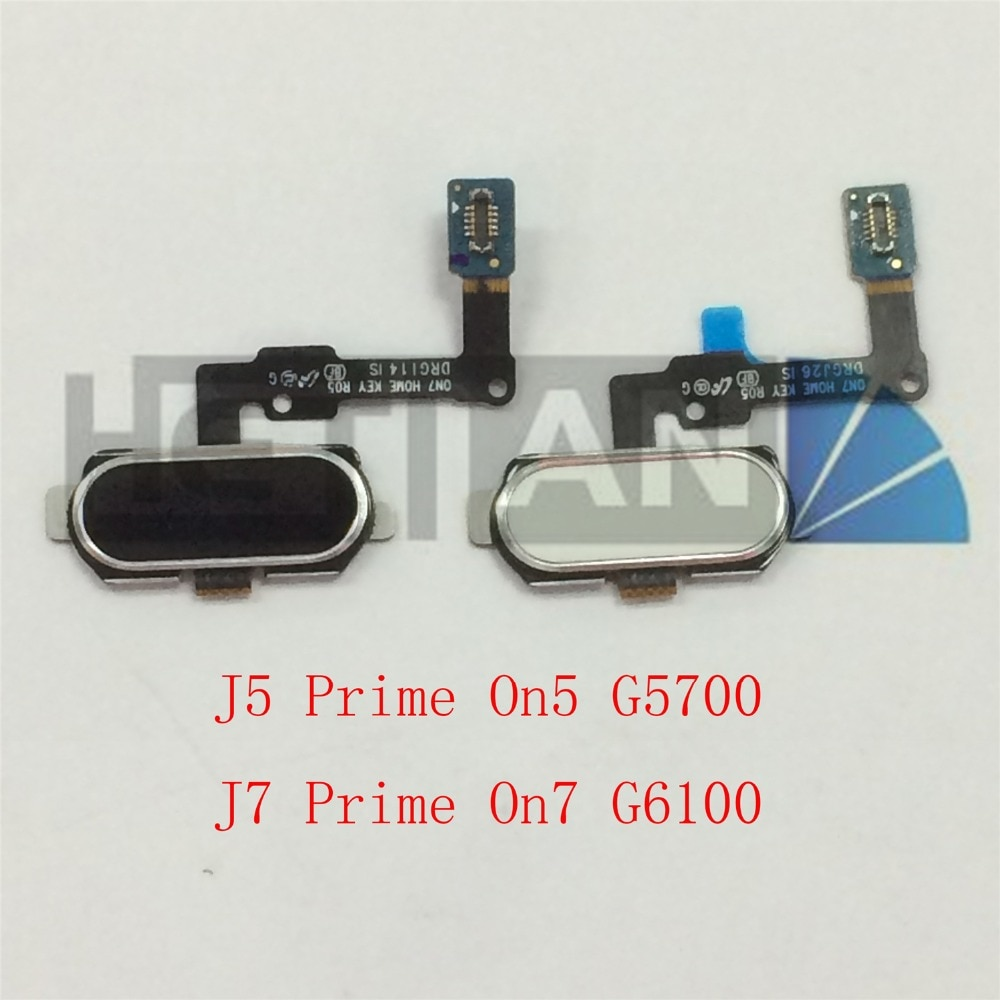 10 Uds negro Original botón de inicio Sensor de huella digital cable FLEX para Samsung Galaxy J5 primer On5 G5700 J7 primer On7 G6100