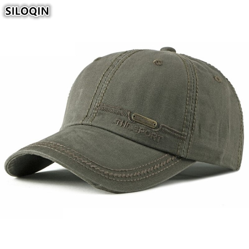 Мужские и женские бейсболки SILOQIN, регулируемые бейсболки из 100% хлопка с надписью и вышитым хвостиком, модная кепка с язычком
