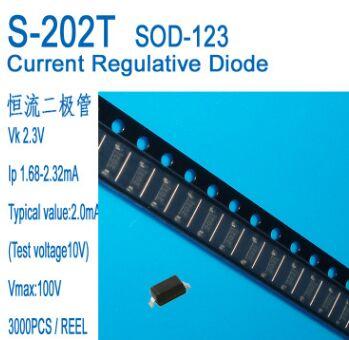Envío Gratis 50 unids/lote CRD/diodo de corriente constante 2mA, S-202T SOD-123 aplicaciones de Sensor IP1.68-2.32MA
