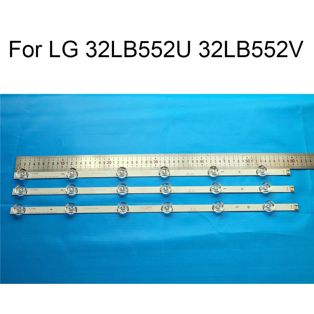 Brand New LED Backlight Strip For LG 32LB552U 32LB552V 32 LCD TV Repair LED Backlight Strips Bars A B Strip With Thermal tape