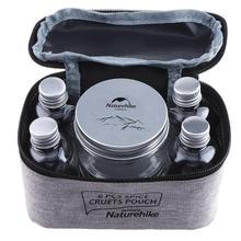 7 stücke Tragbare Spice Cruets Würze Jar Beutel Camping BBQ Organizer Würze Flaschen Set Für Camping Grill Picknick