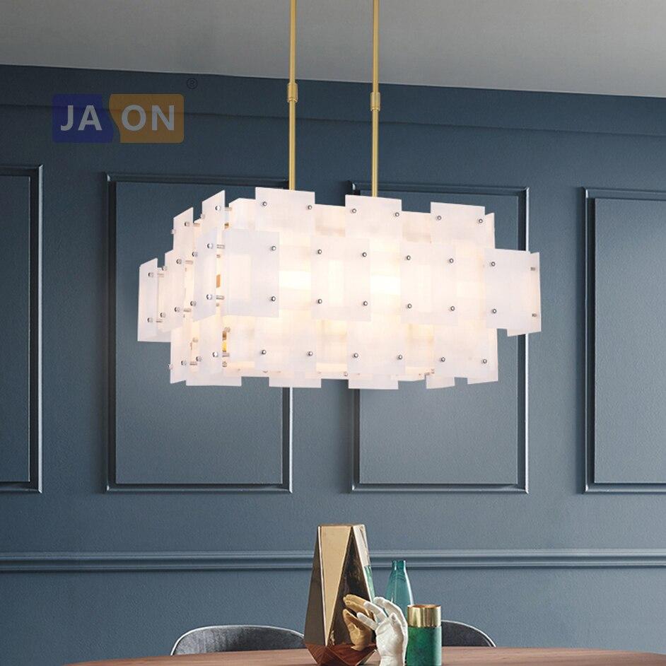 مصباح led معلق على شكل أكريليك حديد ، تصميم ما بعد الحداثة ، إضاءة داخلية ، مثالي لغرفة الطعام ، e14
