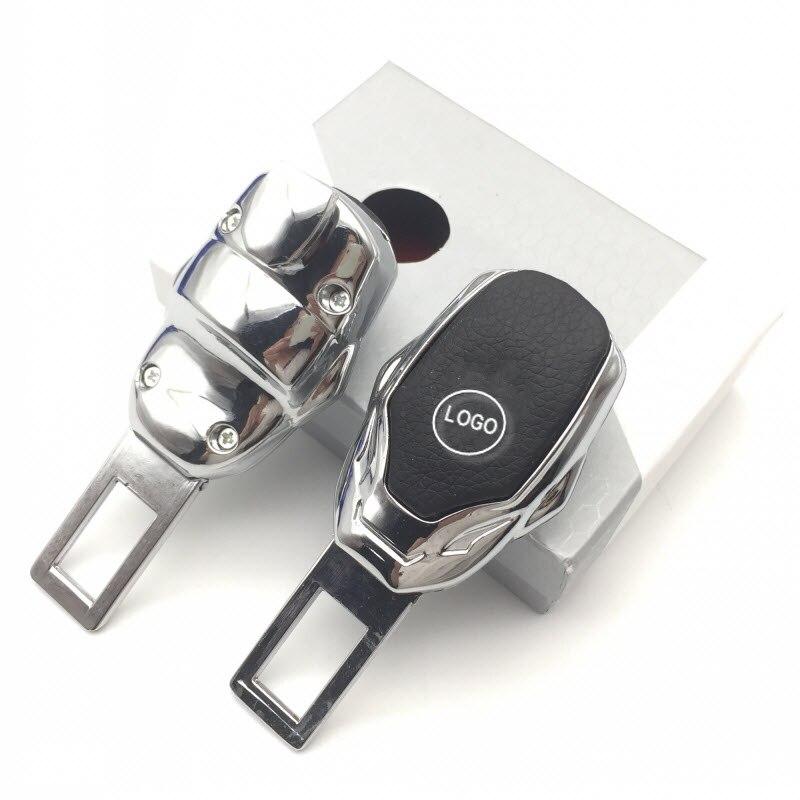 1 stück Universal Fahrzeug Sitz Gürtel Extender Angepasst Kostenloser Auto Logo Sicherheit Schnalle Verlängerung Clip mit Leder und Zink-legierung
