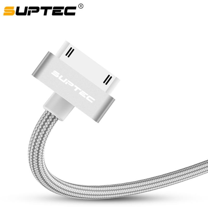 SUPTEC USB кабель для iPhone 4 s 4S 3GS iPad 2 3 iPod Nano touch Быстрая зарядка 30 Pin оригинальный зарядный адаптер зарядное устройство кабель для передачи данных