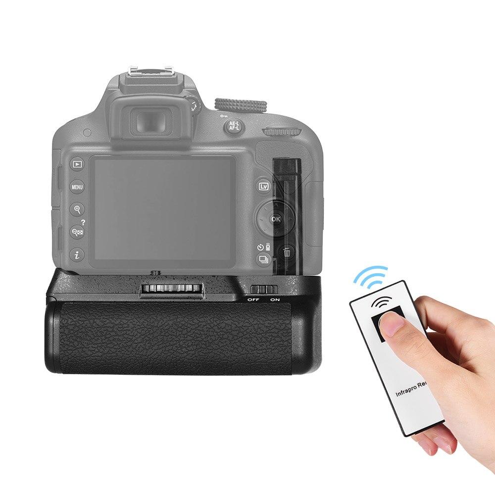 Soporte Vertical de batería EN-EL, 14 pilas con mando a distancia IR para cámara Nikon D5300 D3300 D3200 D3100 DSLR