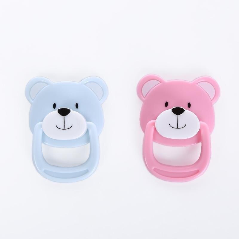 20 шт./лот, магнитная пустышка с милым медведем для новорожденных, куклы для новорожденных, ручная работа, сделай сам, пустышка, магнитные сос...