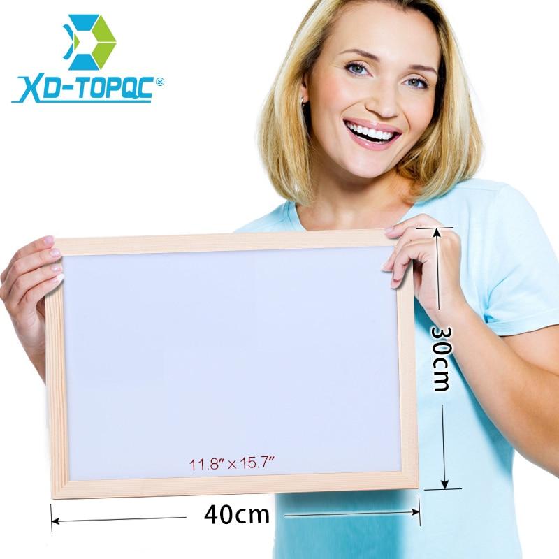 30*40cm Whiteboard Trockenen Löschen Magnetische Bord Zeichnung Bulletin Weiß Boards Holz Rahmen Gelöscht Leicht Wiederholt Fabrik Lieferant