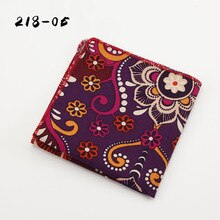 Ikepeibao New Men's Informal African Print Linen Pocket Square Handkerchiefs Paisley Floral Cotton Hankies 21*21cm