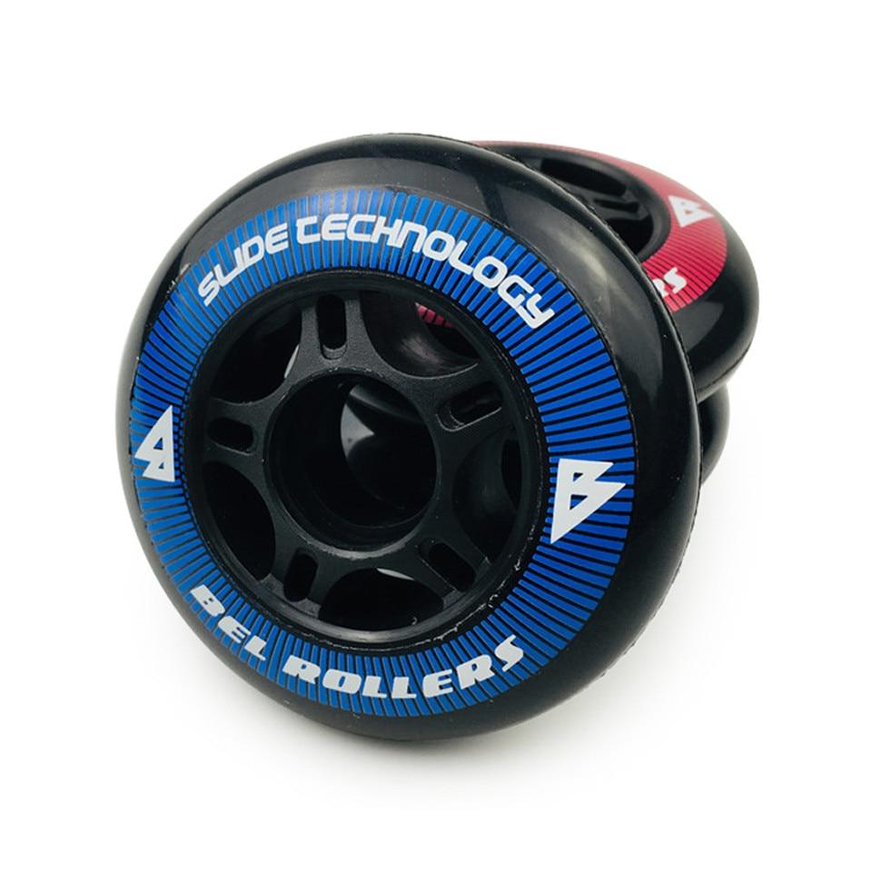 JK роликовые скейты PU колеса 8 шт./лот 85A 80 мм шины встроенные Slalom скользящие