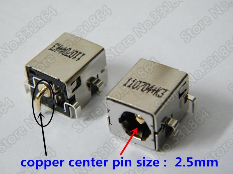 Frete Grátis 5 pcs 2.5 milímetros DC Power Jack conector para Asus Laptop K52 K52F K52JR K53E K53S K53SV K53TA k42 K42J K42JC K42JR K42D