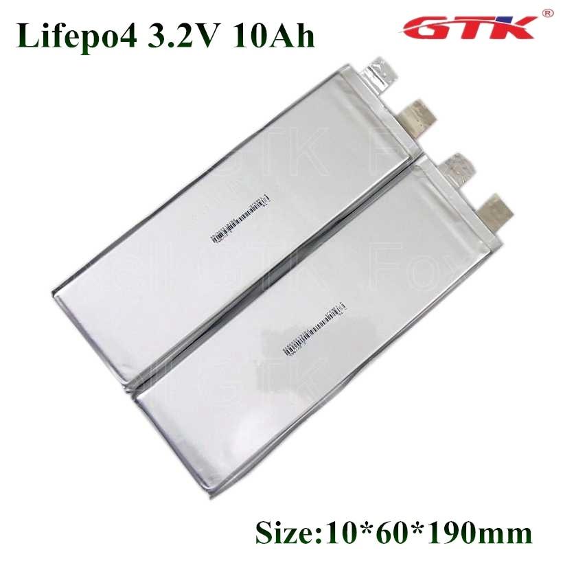 GTK Lifepo4 LFP 10Ah 3,2 v Zelle 10000mah 30A 50A Entladung Für Diy Batterie Bank Power Tools E Bike roller Pack + Schraube Muttern