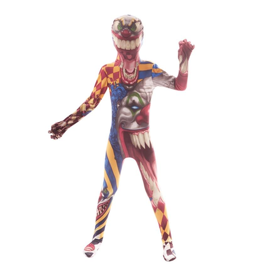 Horror Spider Halloween Costume for kids Werewolf Scary Monster Clown Skeleton Costume Fancy Dress Creepy Demon Purim Skull Suit