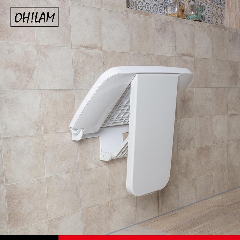 مقعد دش قابل للطي متوافق مع ADA ، مقعد حمام طبي حديث قابل للطي مع حامل حائط بسعة 400 رطل