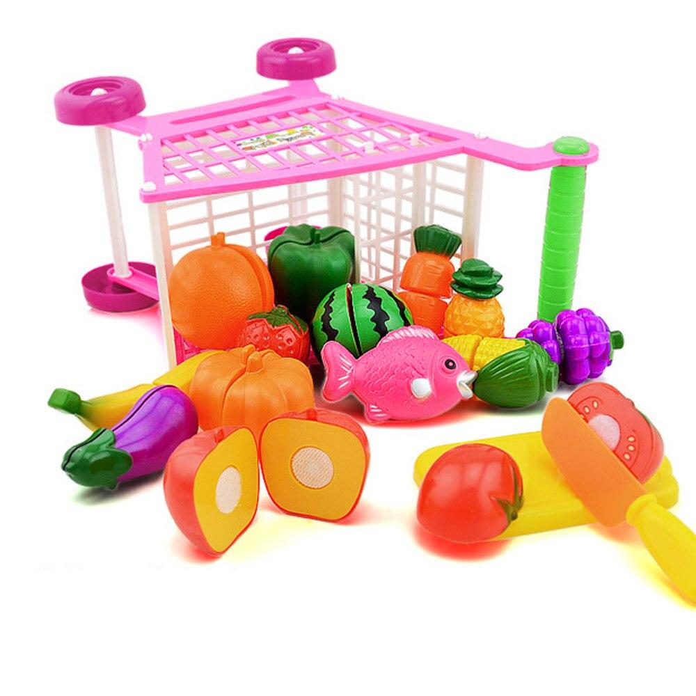 Chico de plástico Mini simulación de compras de supermercado carro carrito centro comercial carrito de compras que Escritorio decoración juguete