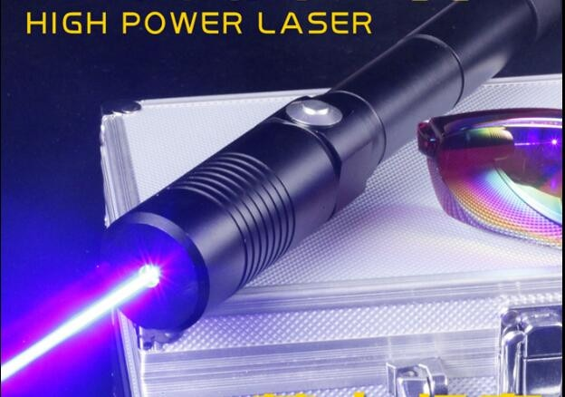 blue laser pointer high power military 100000m 100w 450nm flashlight burning match dry wood candle black burn cigarettes glasses Strong power military 500000M blue laser pointer 450nm 500W LAZER Burning match candle lit cigarette wicked lazer torch Hunting