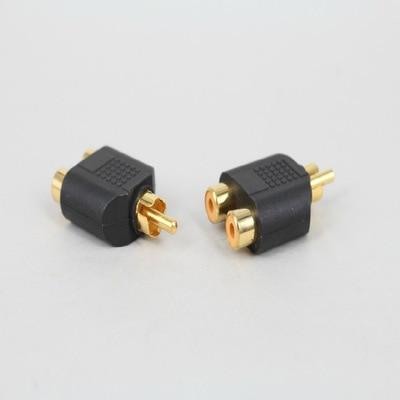 RCA jack Y Splitter AV Audio Video enchufe Adaptador 1 macho a 2 convertidor hembra