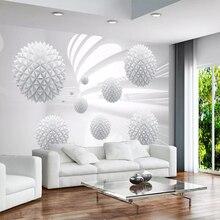 Papier peint Mural 3D personnalisé   Boule solide géométrique arrière-plan Mural, Art moderne, décoration de salon maison, peinture murale