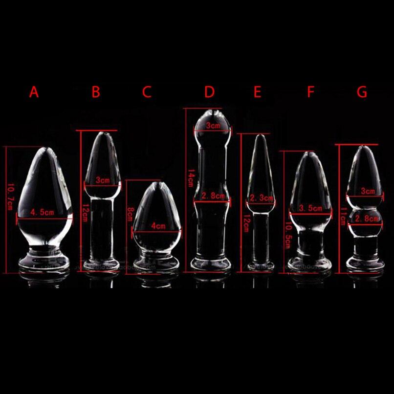 1PCS Glas Anal Dildo Butt Plug Anal Perlen Erotische Sex Spielzeug für Frauen Erwachsene Produkte für Paare Kristall Glas anal Stimulator
