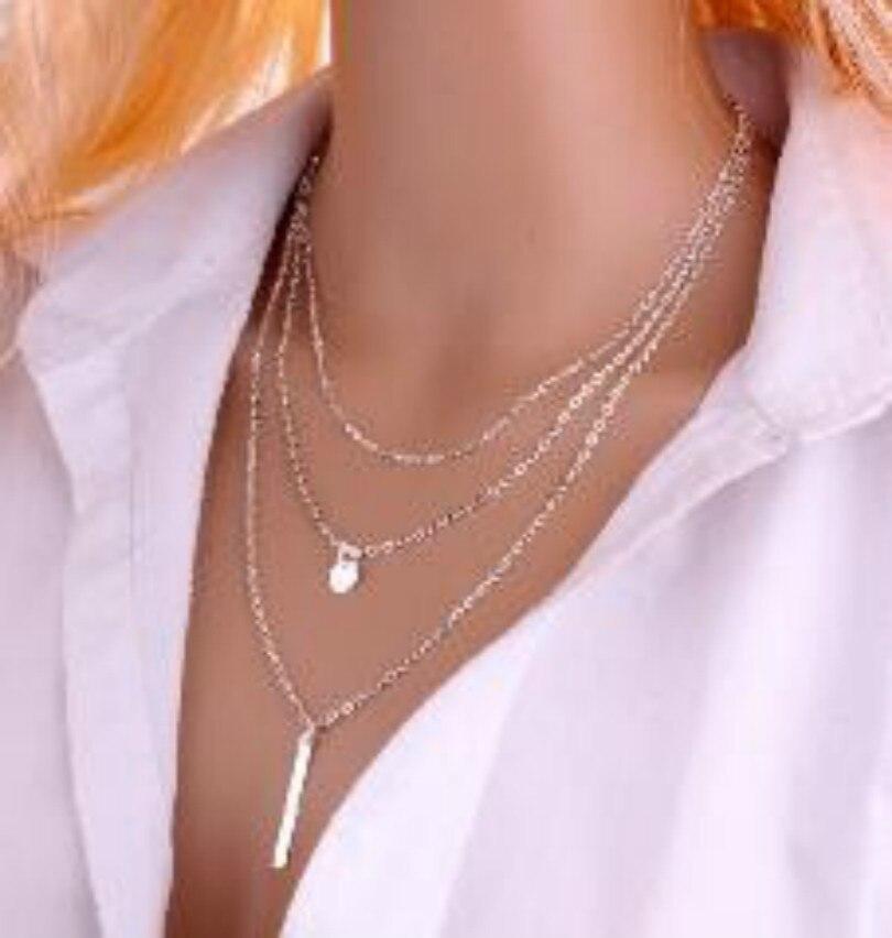 Moana Kolye Colar Collier Collares Maxi Camada Borla Multi-coin Charme Da Cadeia de Moda Coreano Simples Feminino Atacado